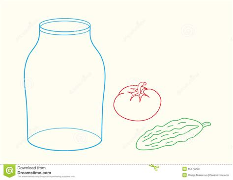 doodle jar doodle jar cucumber and tomato stock photos image 15472293