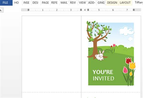 Spring Party Invitation Template For Word Themed Word Template