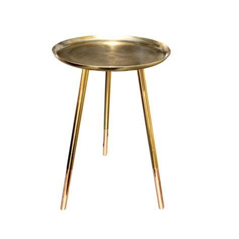 Copper Side Table Brass Side Table With Copper Legs Heavenlyhomesandgardens Co Uk