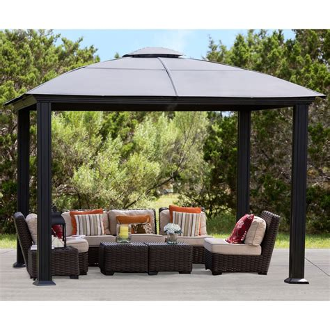 gazebo outdoor siena 12 x 12 top gazebo ebay