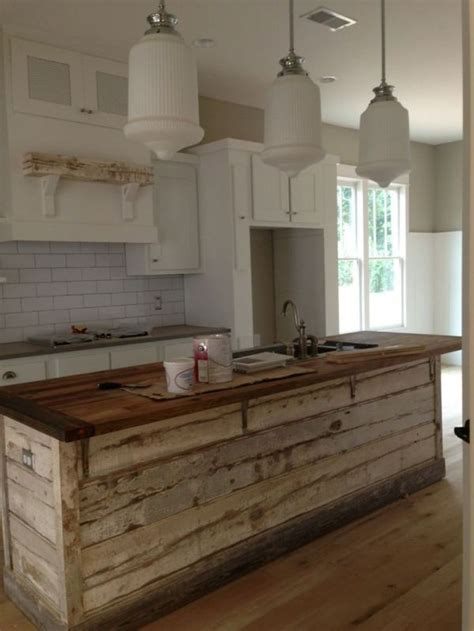 ideas  rustic kitchen island  pinterest
