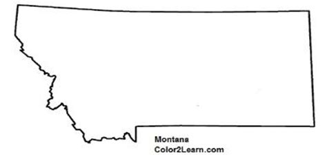 montana state map colouring pages