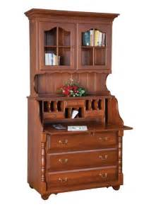 Tall Walnut Bookcase Amish Slant Top Secretary Desk With Hutch Top