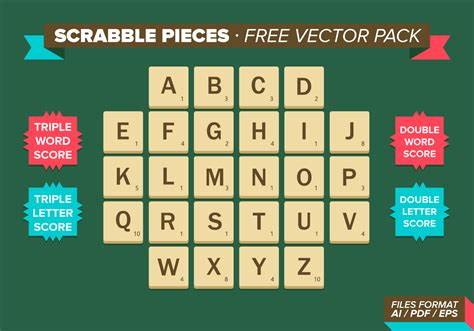 ai scrabble scrabble pieces free vector pack free vector