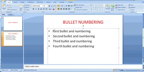 format video powerpoint format bullet numbering pada microsoft powerpoint just