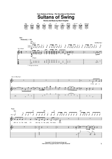 sultans of swing guitar tab sultans of swing sheet for piano and more