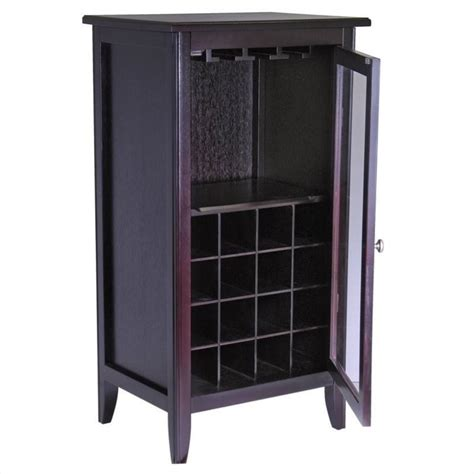 Wine Cabinet With Glass Door Espresso Wine Cabinet With Glass Door 92522