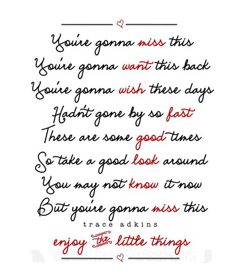 printable lyrics best day of my life you re gonna miss this print makes a beautiful gift