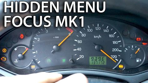 2003 ford focus instrument cluster lights how to access menu ford focus mk1 instrument