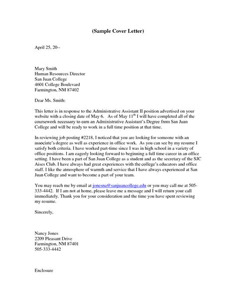 cover letter exles for executive assistant executive assistant cover letter no experience writing