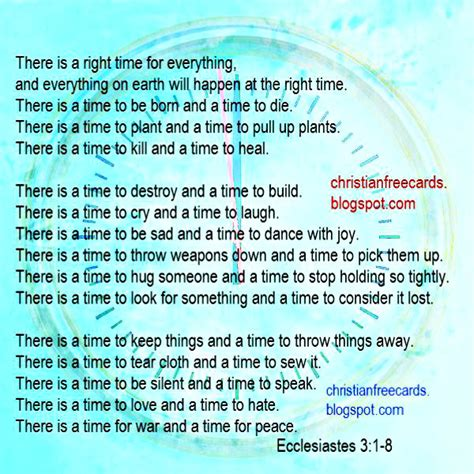 A Time For Everything by Free Christian Cards October 2014