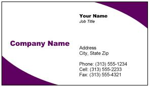free business card templates for microsoft word