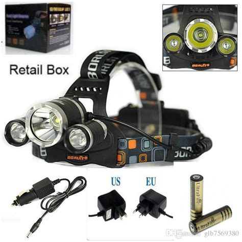 High Power Headl Cree Xm L T6 5000 Lumensboruit high power 5000lm 3x cree xm l t6 led headl headlight l light torch 2x 18650