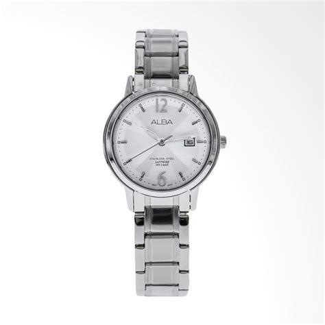 Jam Tangan Fashion Wanita Alba Date Silver Black Premium jual alba ah7g91x1 jam tangan wanita silver harga kualitas terjamin blibli