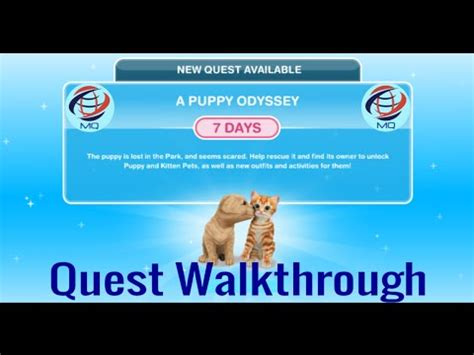 a puppy odyssey sims freeplay the sims freeplay a puppy odyssey discovery quest walkthrough