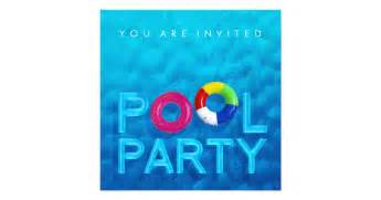 summer swimming pool invitation zazzle
