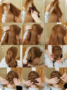 how to do easy hairstyles for step by step easy hairstyles for long hair step by step