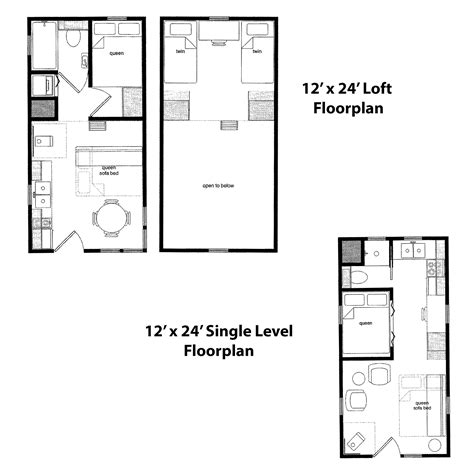 12x24 floor plans finished right contracting offers tiny home cabin kits