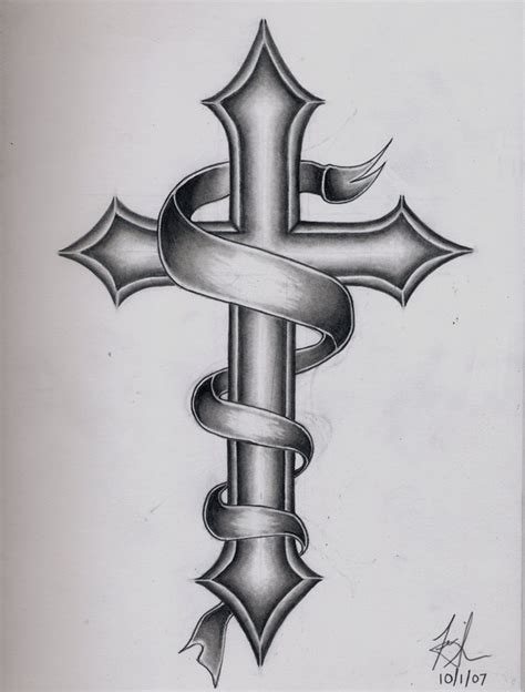 cross tattoo by dirtyd41 on deviantart