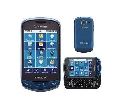 h samsung phone samsung brightside sch u380 qwerty messaging phone for verizon blue condition used