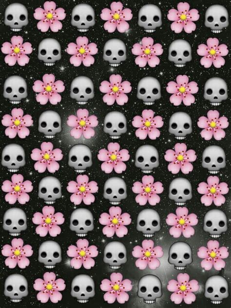 emoji skull wallpaper flower image 2483165 by marky on favim com