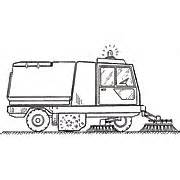 Street Sweeper Truck Coloring Page Two Blue Cars Short  sketch template