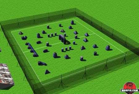 field layout initialized event paintball warpig world and regional paintball