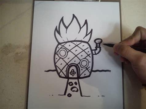 how to draw spongebob s house la verdadera historia de bob esponja doovi