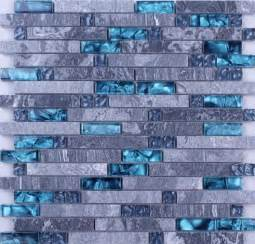 glass mosaic tile kitchen backsplash grey marble blue glass mosaic tiles backsplash