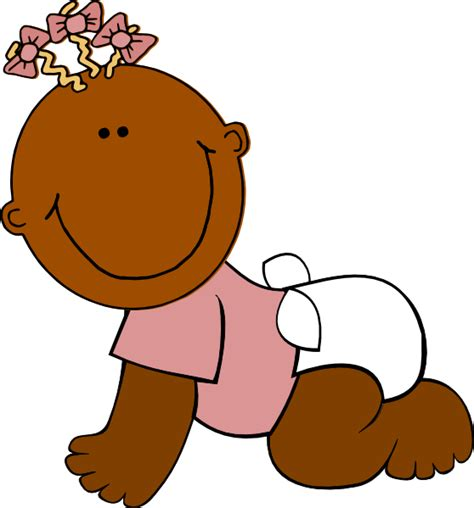 baby clipart brown baby clip at clker vector clip