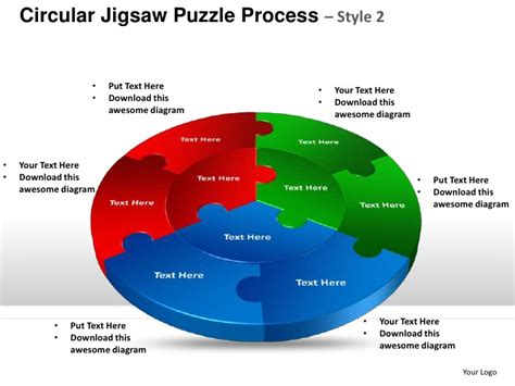 Circular Jigsaw Puzzle Process Style 2 Powerpoint Templates Jigsaw Ppt