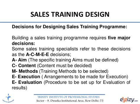design management training program sales management sales training design