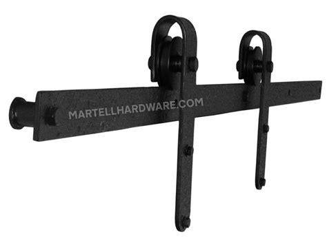 Wrought Iron Barn Door Hardware Agave Ironworks Rh007 5 Wrought Iron Rolling Track Barn Door Hardware Kit Designer