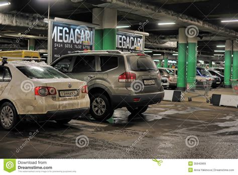 Underground Garage Russia by Underground Parking In The Shopping Center Editorial Stock