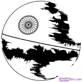 how to draw death star step by step star wars characters
