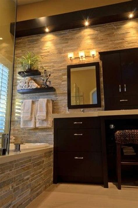 tile bathroom wall design cool bathroom with natural stone bathroom tiles and dark wood vanity