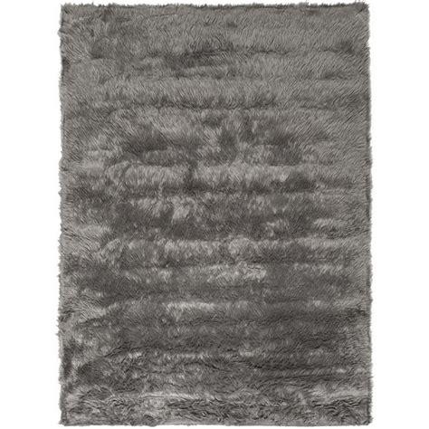 6 X 9 Shag Rug by Safavieh Faux Sheep Skin Grey Shag Rug 6 X 9 Fss235d 6