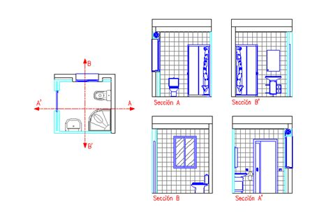 toilet section dwg bloques cad autocad arquitectura download 2d 3d dwg