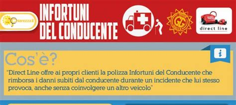 direct line sede la polizza infortuni conducente di direct line chiarezza it
