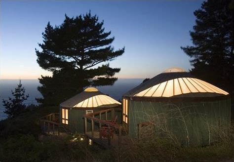 Big Hotels And Cabins by Yurts On The Big Sur This Is Not A Flashback Treehugger