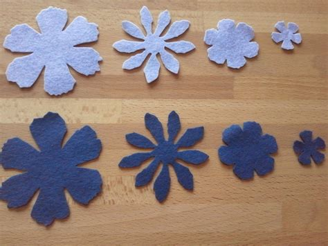 fiori di feltro schemi fiori feltro fustellati materiali stoffa e filati di