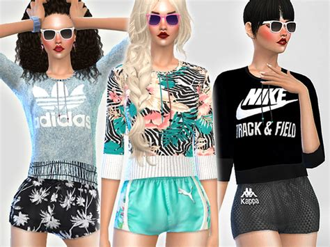 tsr sims 4 clothes sports the sims resource summer ibiza sport set by