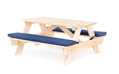 picnic bench cushion blue children s kids outdoor wood play picnic table bench