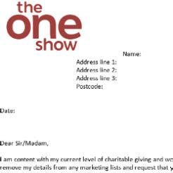 Fundraising Opt Out Letter 30 000 Downloads Of One Show Fundraising Opt Out
