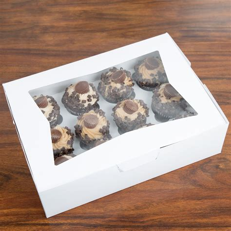10 X 4 X 4 Box - cupcake boxes with insert 14 quot x 10 quot x 4 quot window cupcake