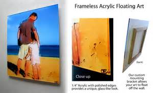 frameless picture hanging photofiddle floating frame floating frames float