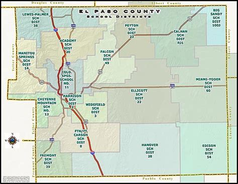 El Paso Property Records El Paso County School Map See All Colorado Springs Co
