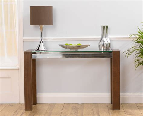 Oak Dining Room Sets For Sale by Rochelle Walnut Amp Glass Console Table Oak Furniture