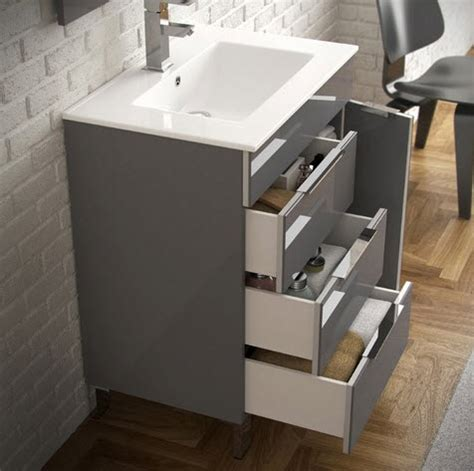 28 Inch White Bathroom Vanity by Eviva Evvn530 28gr Geminis 28 Inch Grey Modern Bathroom