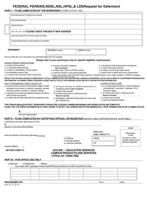 Mba Internship Part Time Resident State Tax Or Time by Request For Deferment Printable Pdf